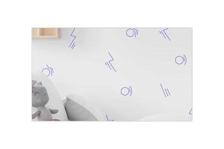 טפט ממפיס סגול- לחדרי ילדים