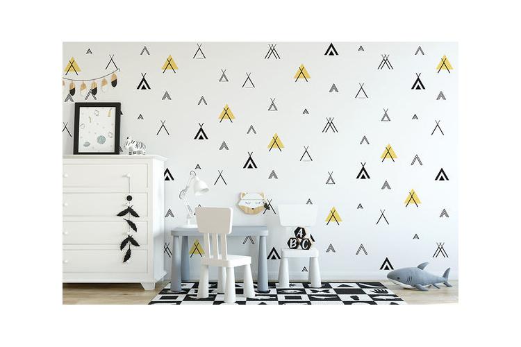 טפט טיפי צהוב - לחדרי ילדים