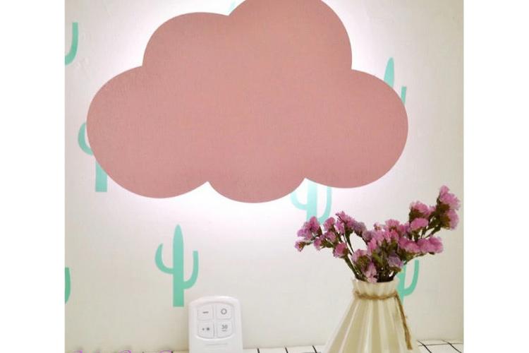 מנורת לילה ענן עם שלט רחוק