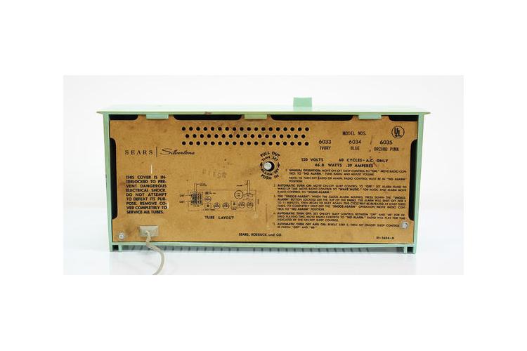 רדיו וינטאג׳ גדול ונדיר בירוק מנטה וזהב, רדיו ירוק, רדיו טורקיז