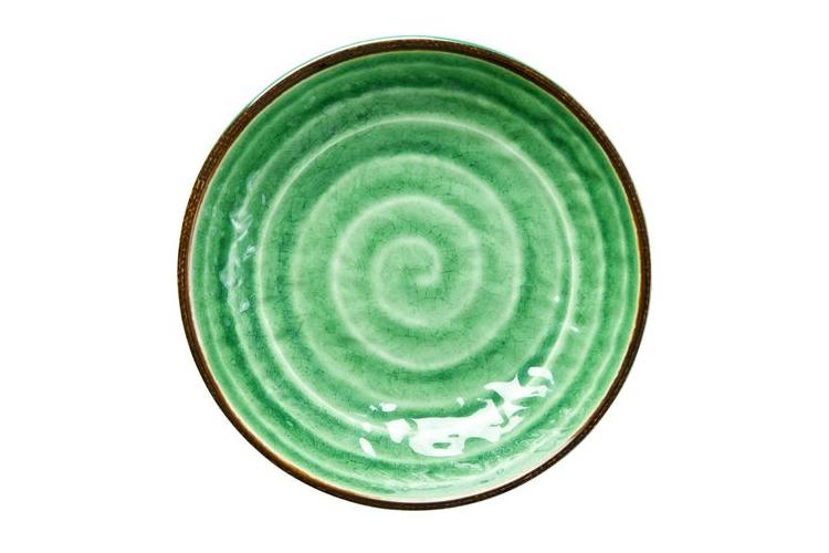 קערת מלמין לפסטה דמוי קרמיקה בצבע ירוק   RICE DK