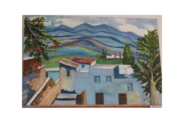 ציור בצבעי שמן על קנבס, צפת
