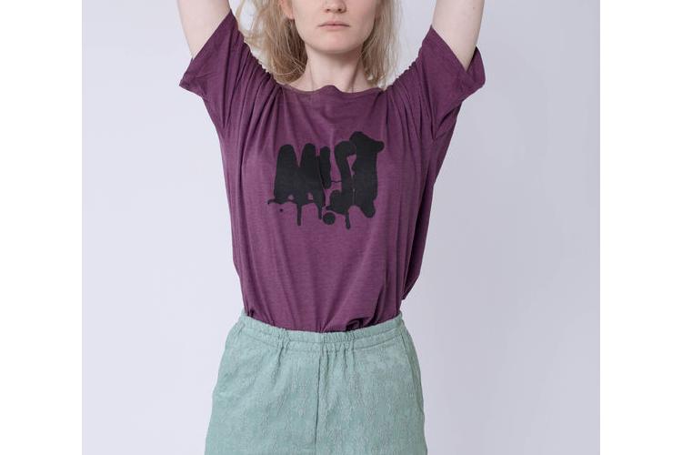 טישרט MIST, טישרט סגולה, טישרט מודפסת, חולצה מיוחדת, טישרט מקורית