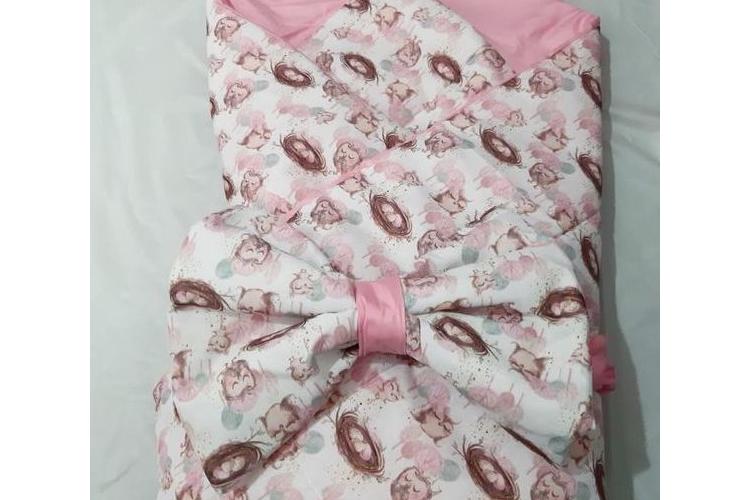שמיכה לתינוק. פפיון קן ורודה