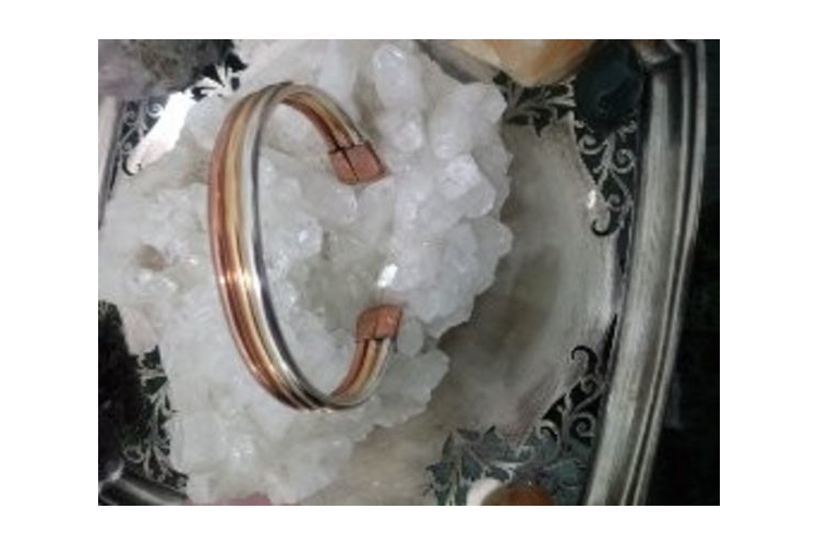צמיד אנרגטי אישי - ציפוי זהב וכסף