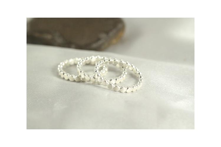 סט 3 טבעות כסף, טבעת כדורים, טבעת כסף עדינה, טבעת כסף קלאסית   טבעת בעיצוב ייחודי   טבעת בעבודת יד   3 טבעות כסף   כסף 925