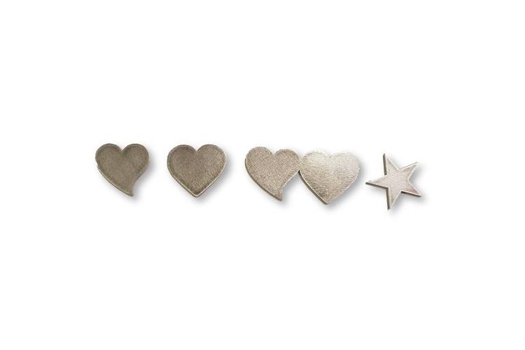 קישוטים לדלת כניסה | לשלט כניסה | לב | לב נטוי | זוג לבבות | כוכב |