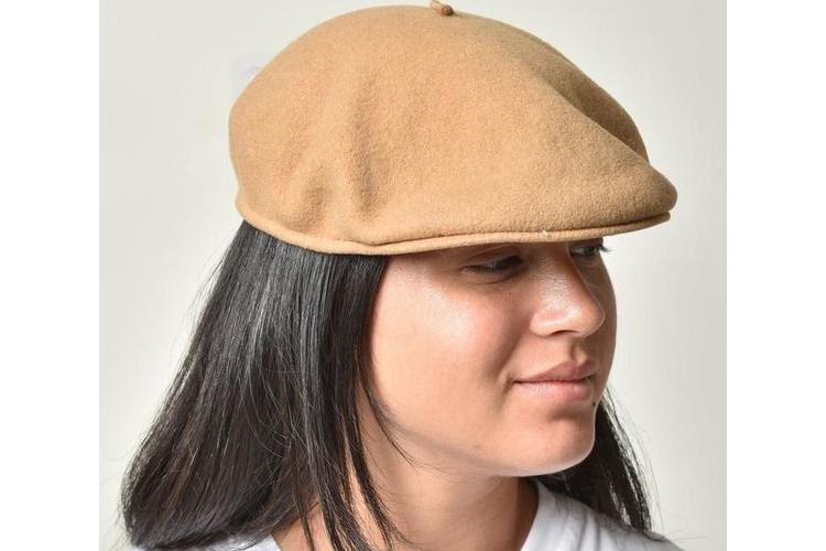 כובע בארט, בארט צרפתי, ברט וינטג', כובע צמר, כובע בצבע בז', כובע בארט בז', בארט מצמר