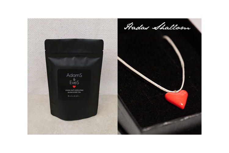 משחק קלפי זוגיות & שרשרת לב אדום במחיר מיוחד ! - Adams & Eves