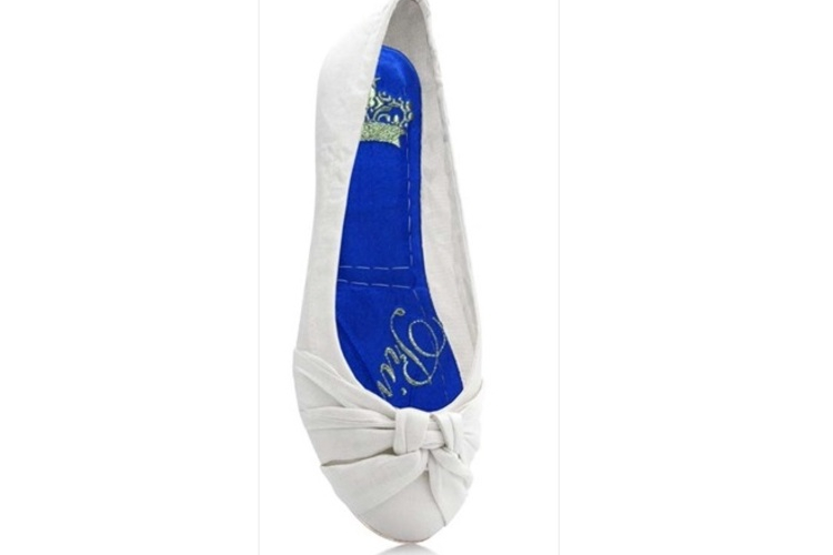 נעלי בלרינה שטוחות מתקפלות- PRINCESS WHITE