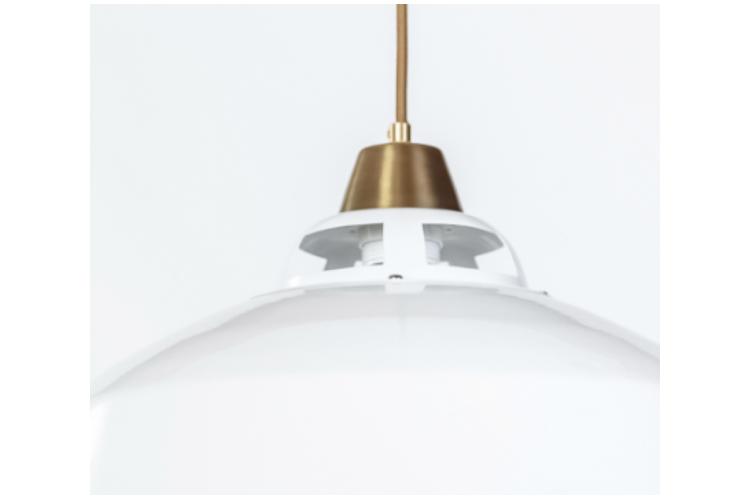 מנורת תליה דגם ניו יורק סטייל / לבן