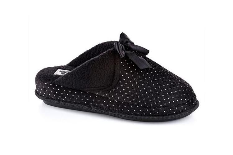 נעלי בית - פפיון נקודות שחור