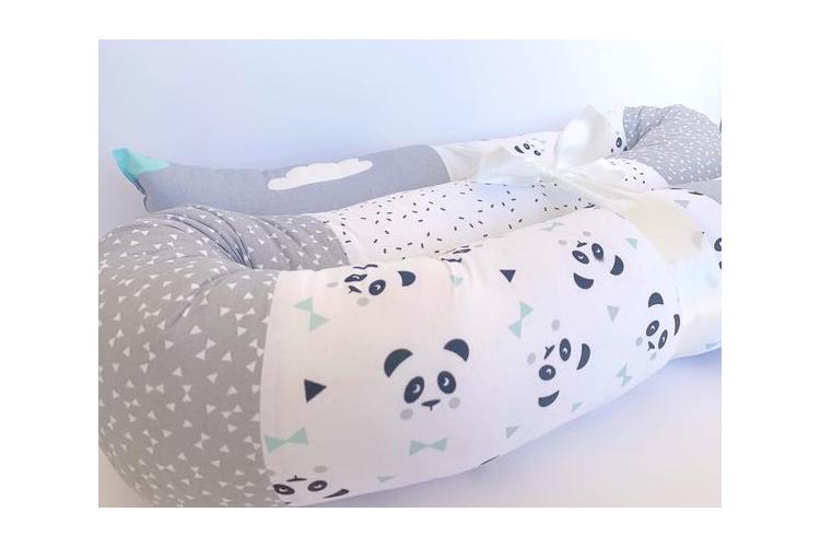 נחשוש 2 מטר | נחשוש למיטת תינוק | נחשוש המקיף את מיטת התינוק | נחשוש לכל המיטה | נחשוש גדול | נחשוש לבן ולבת | נחשוש פנדה לבן טורקיז