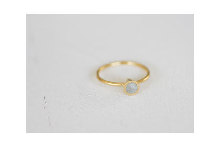 טבעת זהב קונוס עגול, גודל Small