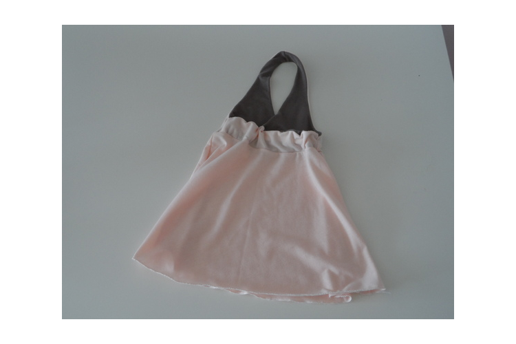 שמלת קולר גב חשוף ורודה לילדה שמלת קולר לתינוקת *משלוח חינם*