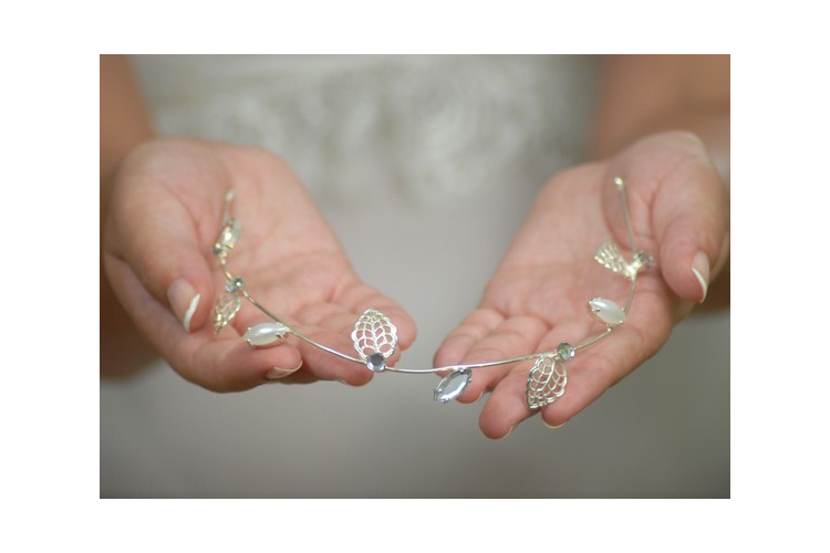 תכשיטים לכלה נזר כסוף- דגם זאוס