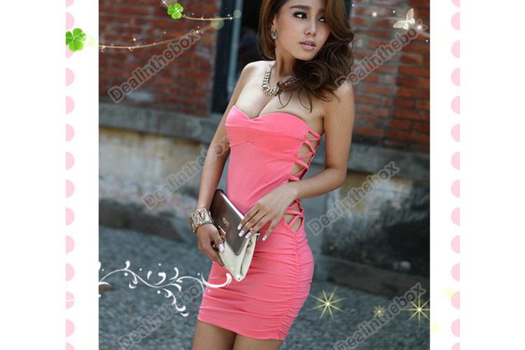 שמלה ורודה