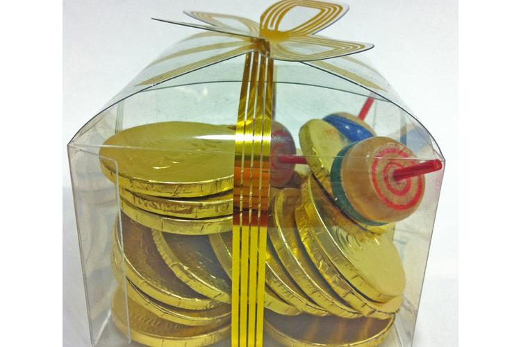 מארז מטבעות שוקולד וסביבונים