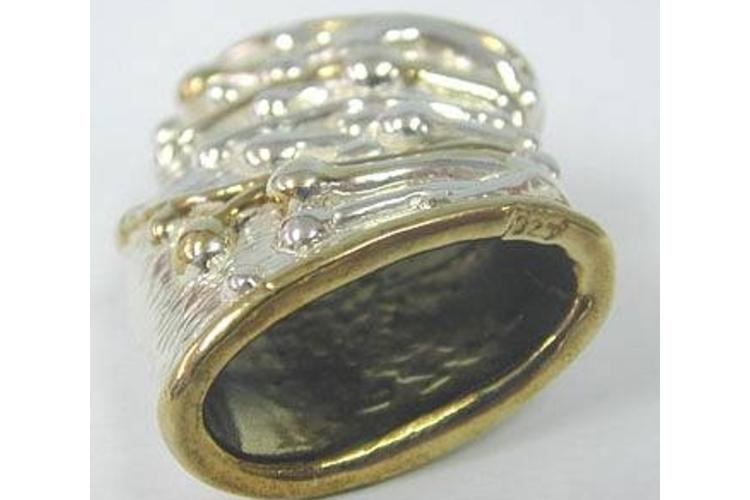 סיכה, סיכת צעיף מכסף 925 בשילוב זהב 24 קאראט