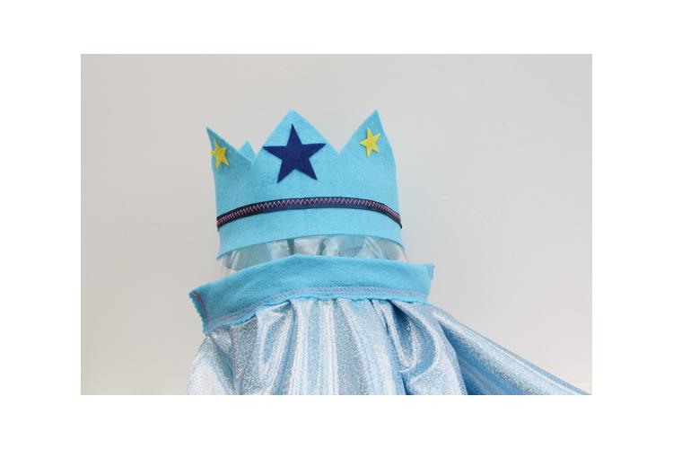 גלימה וכתר לגן | מתנה | מלכה נסיך מלך