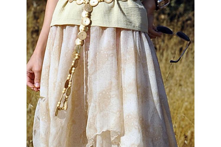 חצאית שיפון שתי שכבות