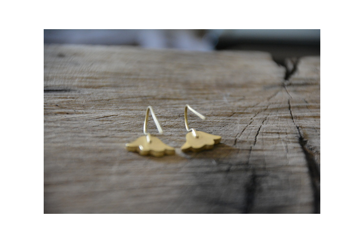 עגילי זהב, עגילים תלויים, עגילי פרח, עגילים עדינים
