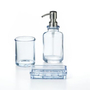 SALE !!!סט לאמבטיה מזכוכית.