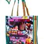 תיק גדול,סל קניות רב פעמי,סל צבעוני לים,סל רשת,תיק צד לקניות,תיק ים-דגם שוק