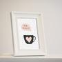 סט 4 גלויות מוכנות למסגור Love   מארז גלויות   עיצוב הבית