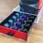 מגירת איחסון קפסולות קפה למכונת קפה נספרסו- אדום