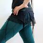 חצאית מיני מעטפת -חגורה