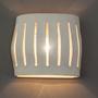 מנורת קיר|מנורת פסי אור|מנורת קרמיקה|תאורה מעוצבת|מנורמיקה |גוף תאורה