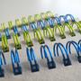 מחברת ספירלה כחולה - במשרד
