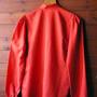 חולצה אדומה אייטיז מותג מריו פוצ'יני איטליה   חולצה מעוצבת אלגנטית לאישה 20% הנחה מידה S