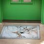 """שטיח לבית,שטיח pvc מעוצב,שטיח ויניל מעוצב - גודל 80/60 ס""""מ,שטיח מעוצב דגם איילים"""