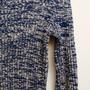 סוודר כחול לבן | סוודר וינטג' שנות ה70' לגבר / אישה מידה S M
