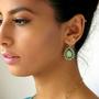 עגילי טיפה, עגילים בטורקיז, עגילי קריסטל סברובסקי, עגילים בסגנון וינטאג', עגילים מעוצבים, עגילים תלויים לאשה, עגילים בעבודת יד
