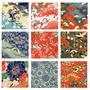 נייר אוריגמי קטן | נייר יפני | סט ניירות | אוריגמי | נייר מעוצב