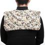 כרית חימום גדולה לצוואר, כתפיים ושכמות I כרית חימום מיוחדת לגב עליון I כרית חימום פירחונית וטבעית לגב I