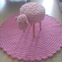 שטיח קוטר 1.20 מ' ושרפרף כבשה סרוגים/שטיחים/שטיח סרוג/שטיחים סרוגים/שרפרף/שרפרף כבשה/שרפרף סרוג