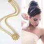 שרשרת זהב עדינה לאישה, שרשרת כפולה, שרשרת רומנטית