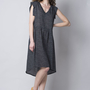 שמלת ויסקוזה לבבות - קז'ואל - שמלת הדפס - שמלת וי - שמלה ליומיום - שמלת ויסקוזה.