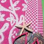שטיח, מחצלת צבעונית , מחצלות לבית, מחצלת לים,שטיח לחדר ילדים,מחצלת אקולוגית pink blossom