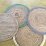 שטיח עגול,שטיח יוטה עגול,שטיחים טבעים,שטיח מעוצב לחדר ילדים,שטיח לסלון