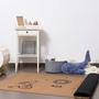 """שטיח בינוני לחדר ילדים, שטיח טבעי, שעם טבעי,חדר קרקס   Rooga רוגה   קרקס. 100/160 ס""""מ"""