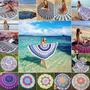 """מגבת חוף צבעונית, רכה וענקית -לים לבריכה וגם לפיקניק בעיצובי """"מנדלה"""" עכשוויים!"""