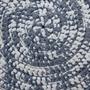 שטיח טריקו | שטיח סרוג | שטיח עבודת יד | שטיח עגול | שטיח אפור לבן | שטיחים סרוגים