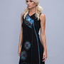 שמלה טוניקה קצרה שחור-כחול