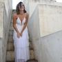 שמלת כלה רומנטית קומות גב חשוף
