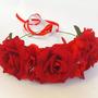 זר לראש | זרראש | משי | כתר מלאכותי | פורים | תחפושת | אביזרים לתחפושות | מלכת השושנים | יום הולדת | ורדים אדומים | שוגר סקאל suger skull